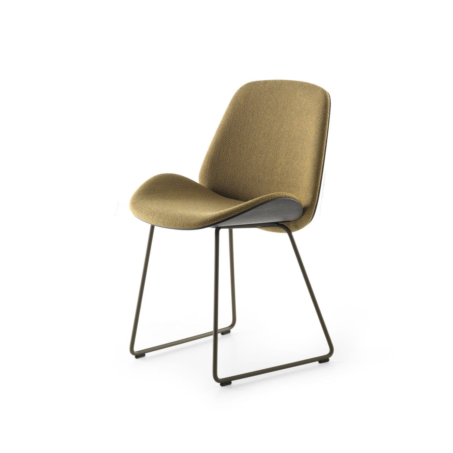 Contemporary Dining Chair Upholstered Sled Base Wooden Lx684 By Pascal Bosetti