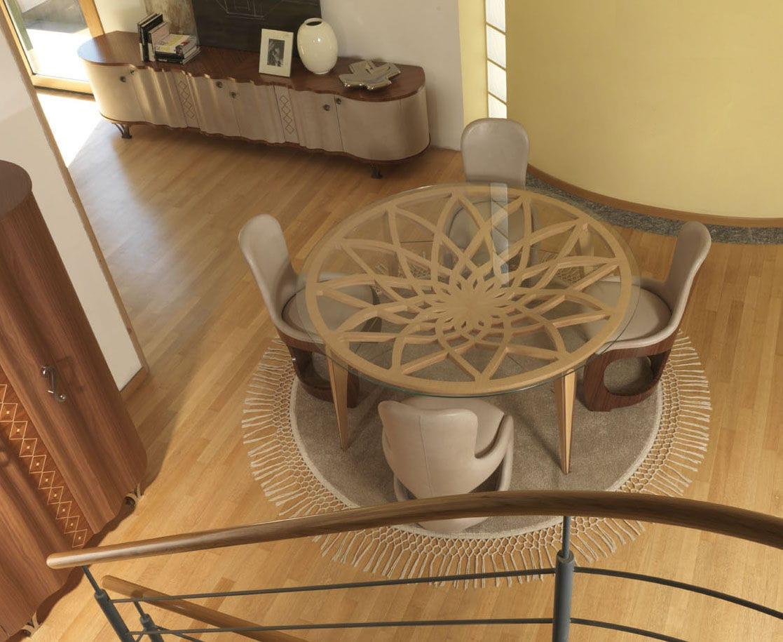 Tavolo Rotondo Vetro Design.Contemporary Table Glass Round Ta63 Galileo Carpanelli