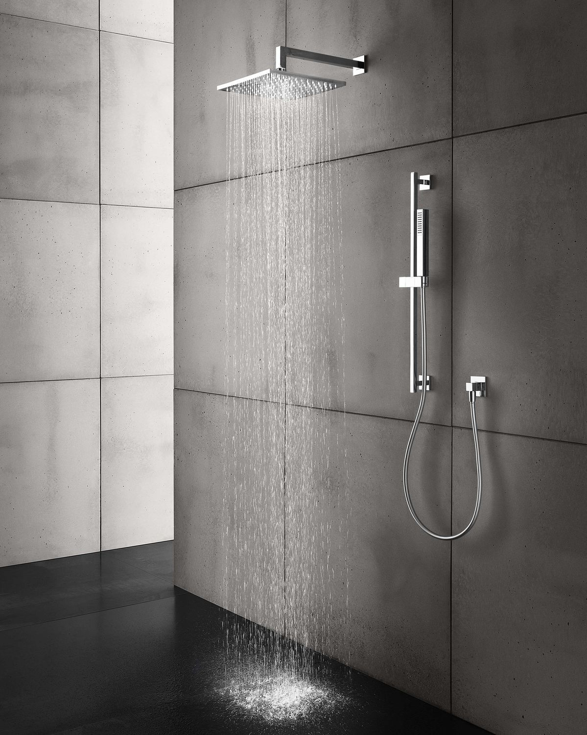 Wall Mounted Shower Head Ceiling Mounted Square Rain