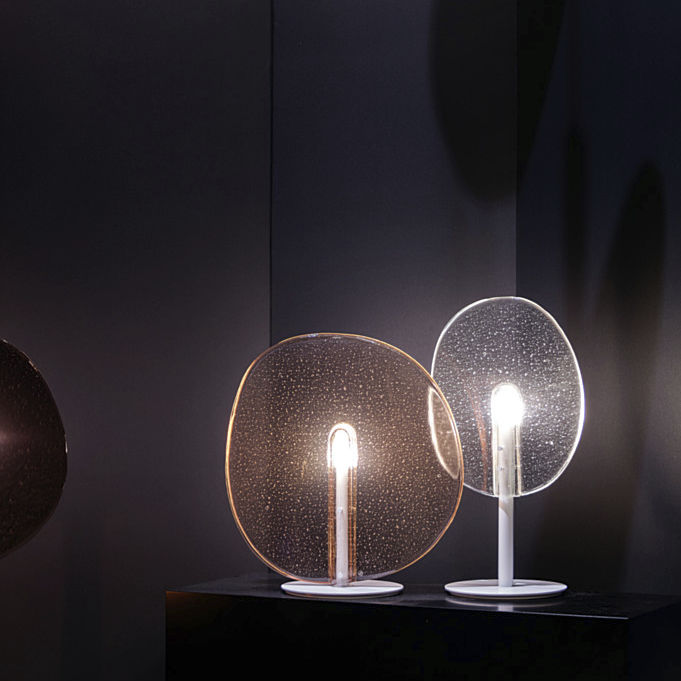 Table lamp / original design / metal / glass LOLLIPOP by Boris Klimek LASVIT