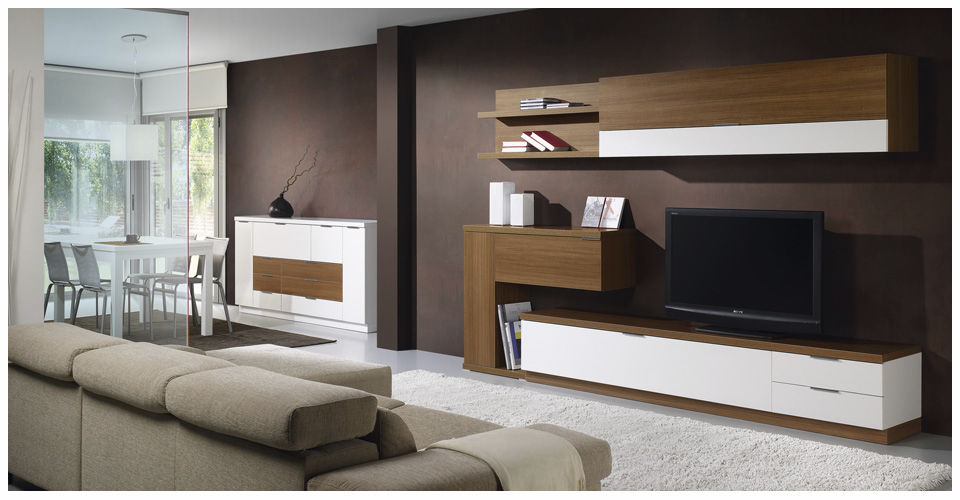 Contemporary Tv Wall Unit Wooden L500 9510