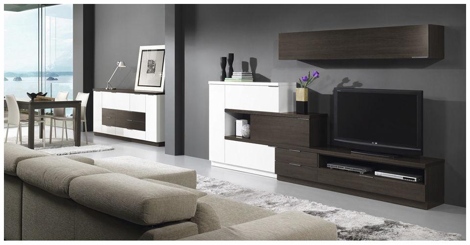 Easyfurn Tv Meubel.Contemporary Tv Wall Unit Wooden L500 9520 Baixmoduls Videos