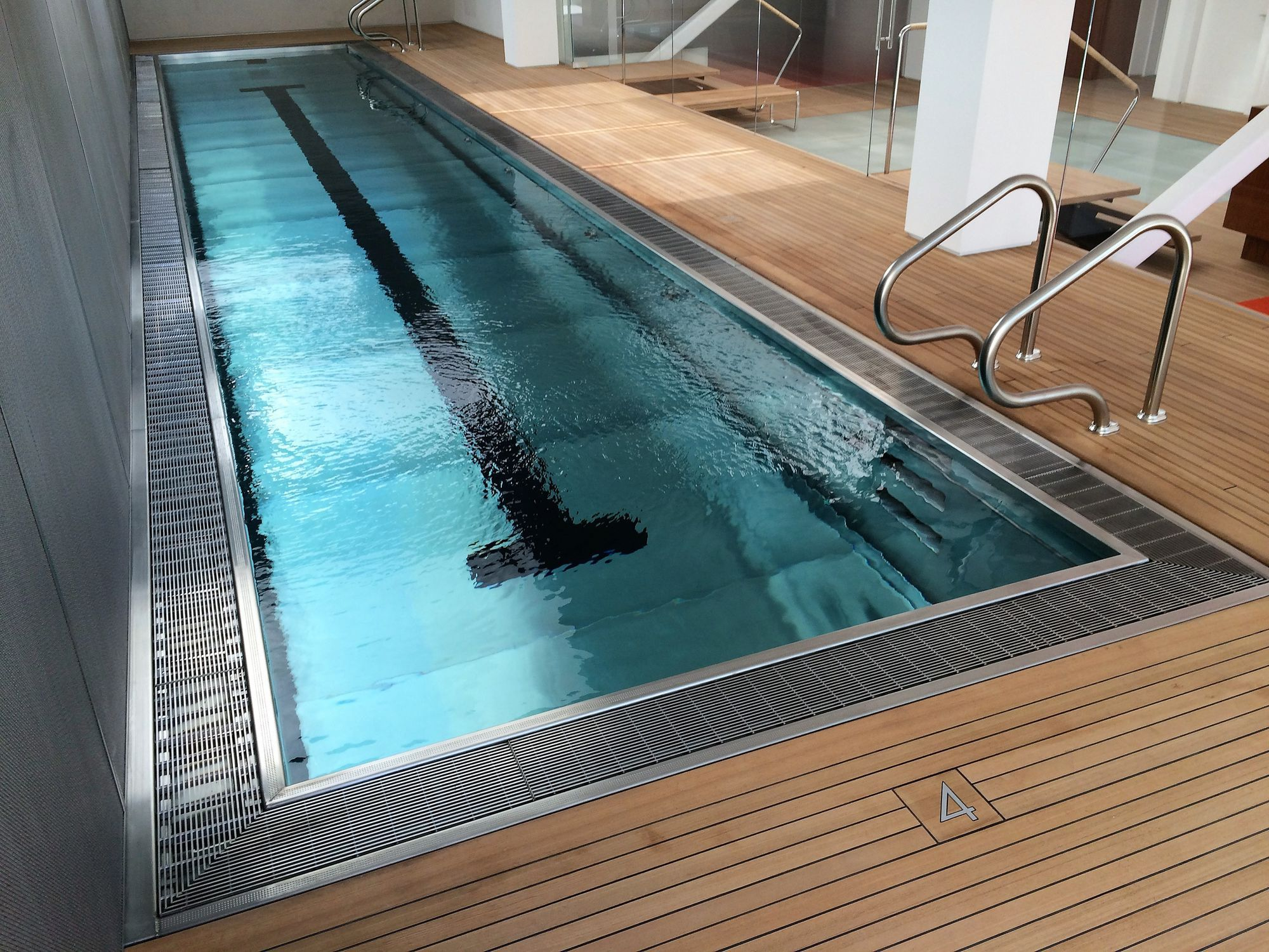 Self-supporting swimming pool / in-ground / stainless steel ...