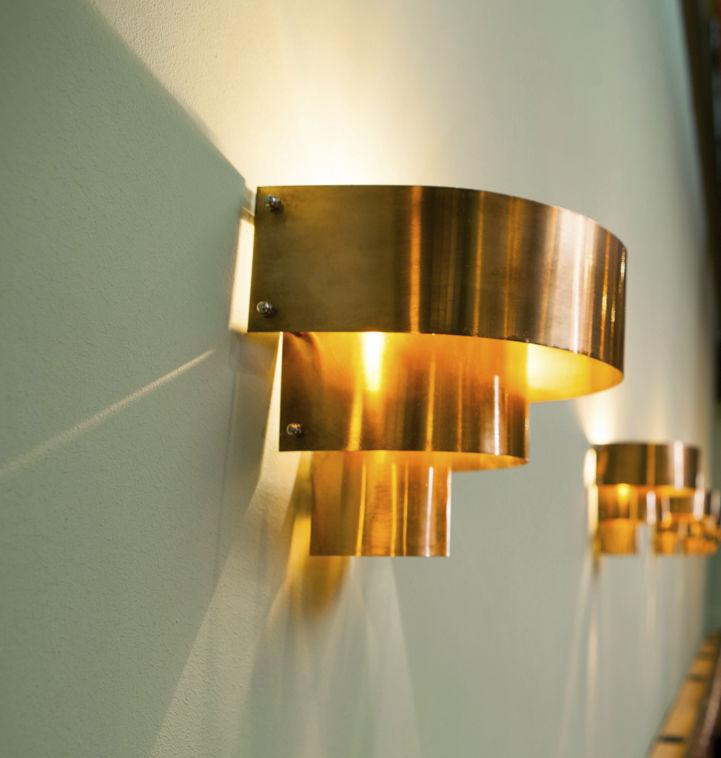 Art Deco Wall Light Copper Led Halogen DecÓ