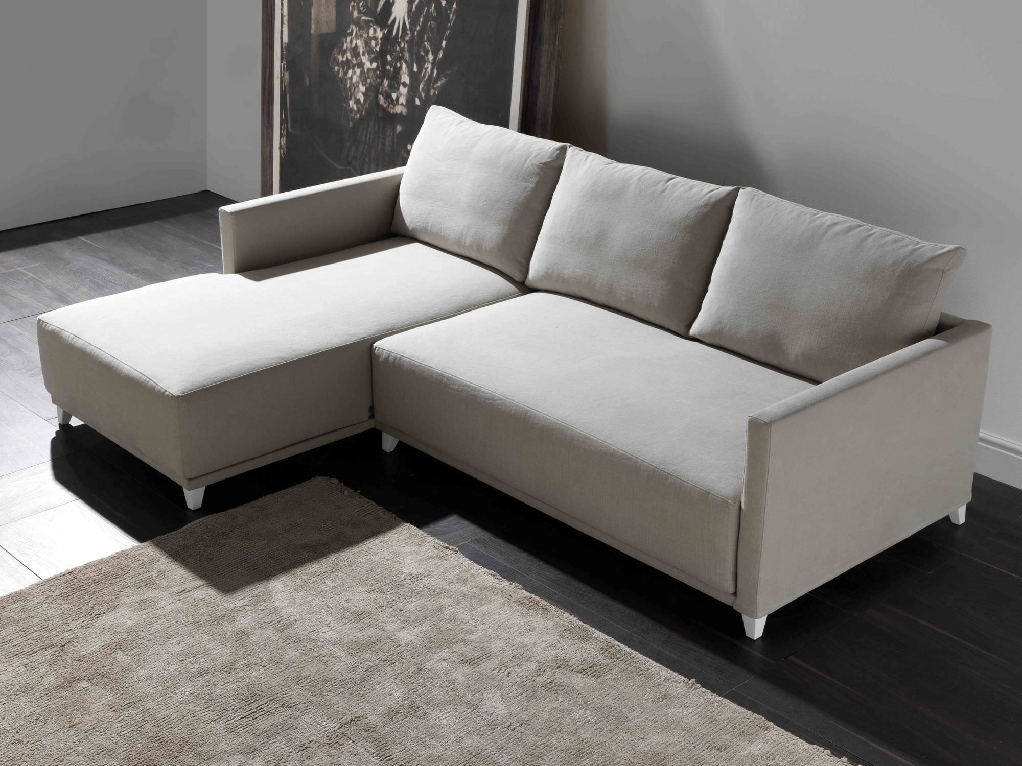 Corner sofa / contemporary / leather / 2-person - NONAME ...