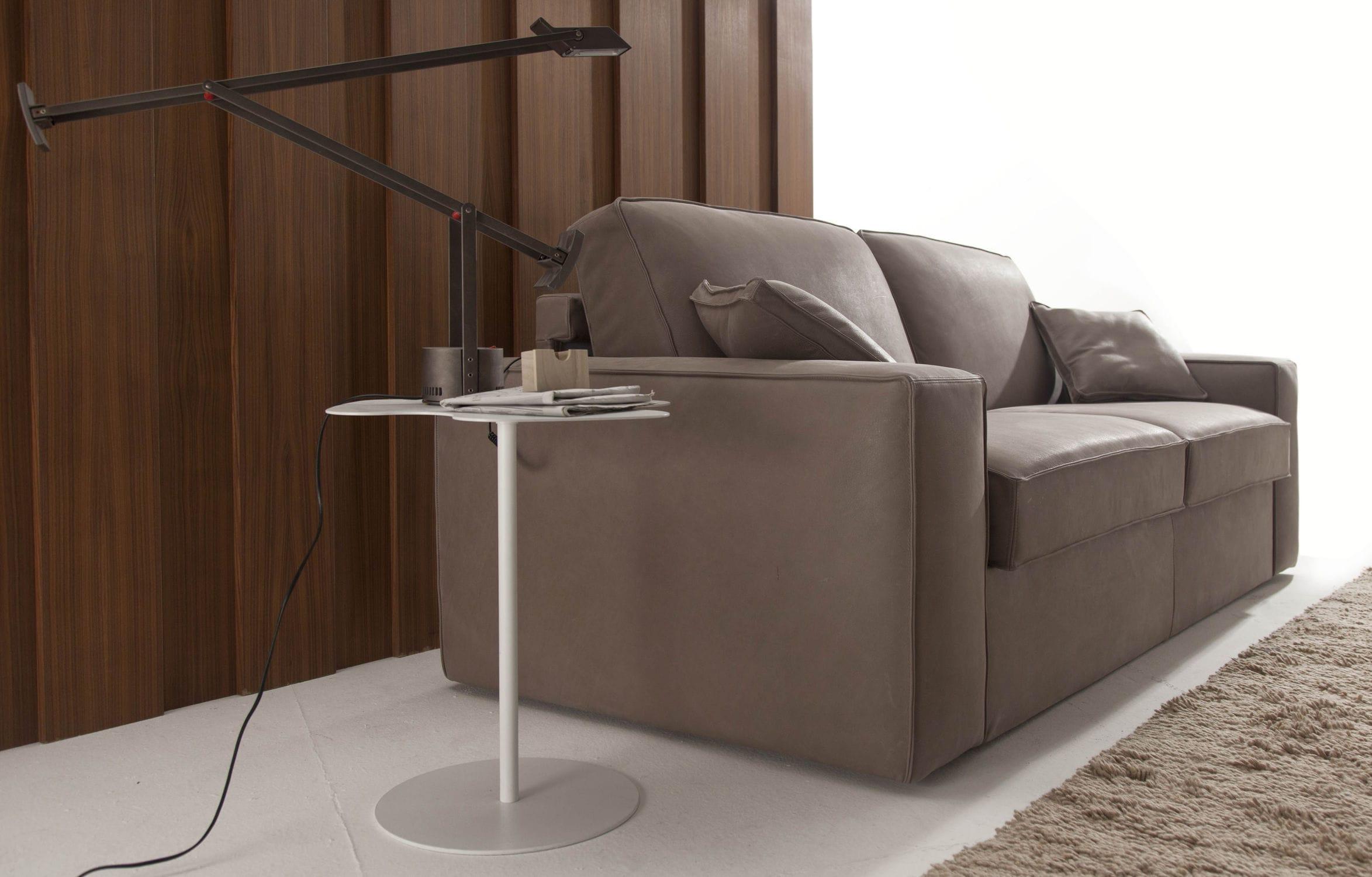 Sofa bed / contemporary / velvet / leather ELEVEN : AUTOMATIC SOFA BED  Divani Santambrogio