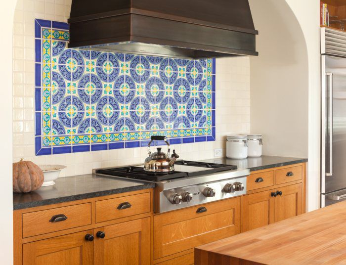 Outdoor Tile Kitchen Wall Ceramic Spanish Colonial