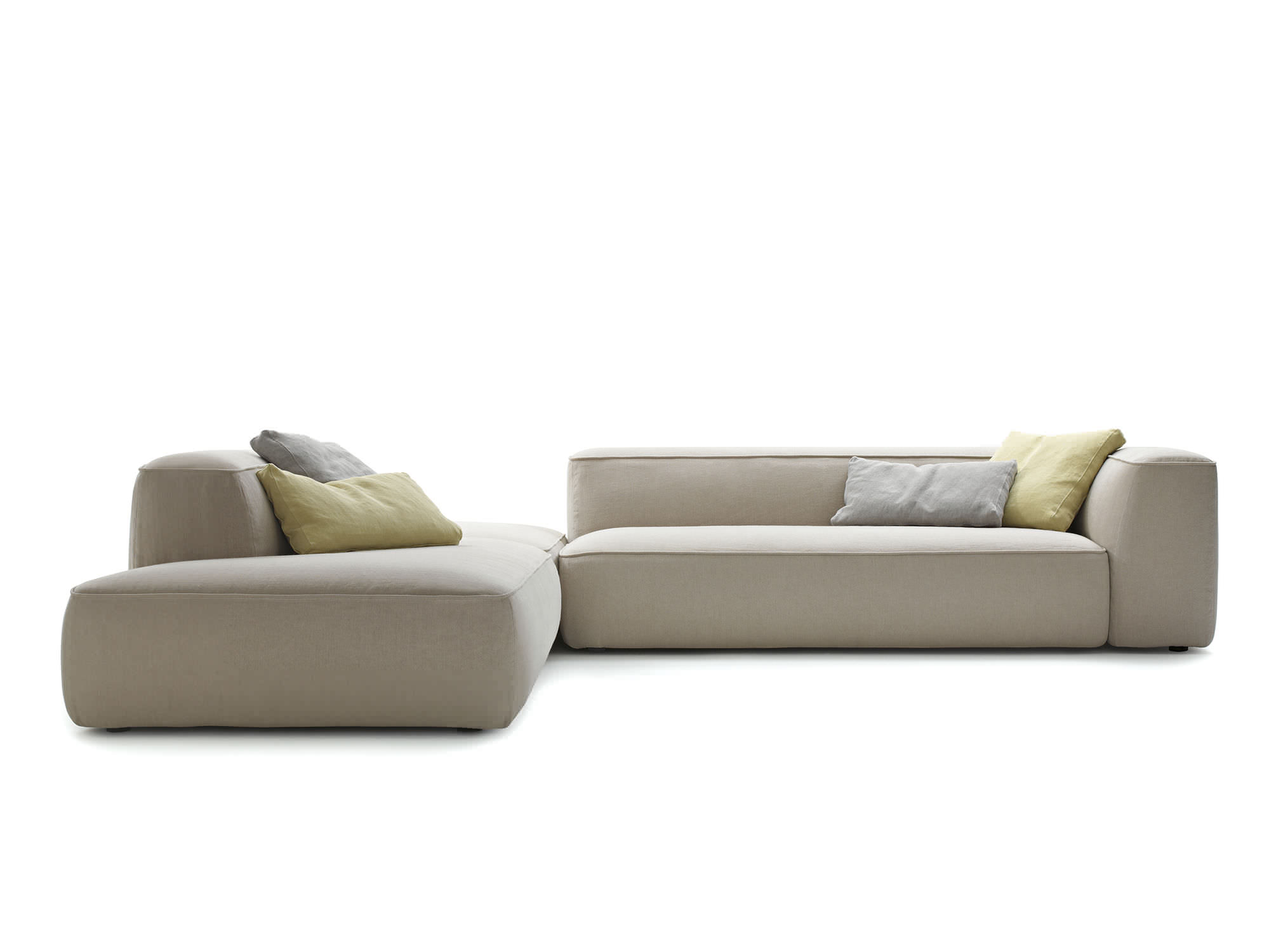 Modular sofa contemporary fabric gray CLOUD by Francesco