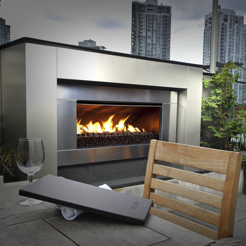 Gas Fireplace Ef5000 Escea Contemporary Open Hearth Built In
