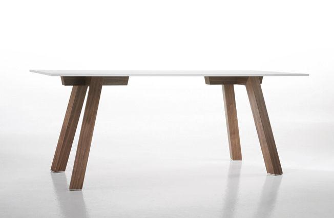 Contemporary Table Wooden Rectangular Outdoor Metro