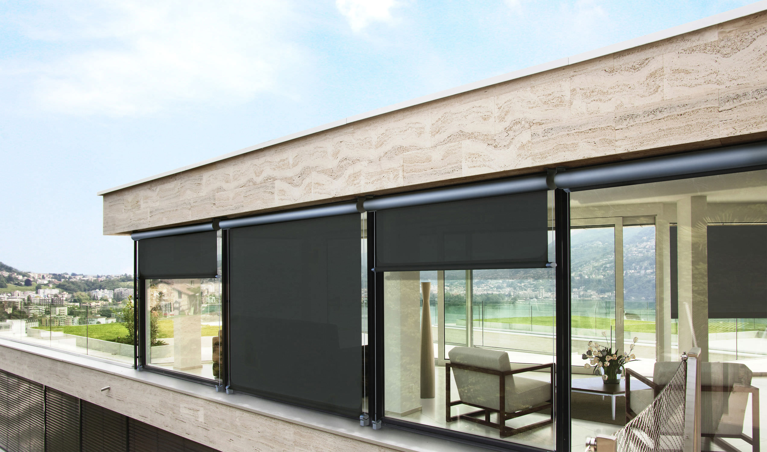 Roller Blinds Canvas Outdoor T Line