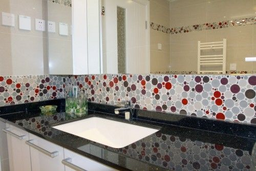Perfect Indoor mosaic tile / kitchen / wall / glass - BUBBLE - EVERSTONE TI71