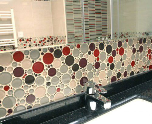 New Indoor mosaic tile / kitchen / wall / glass - BUBBLE - EVERSTONE FI62