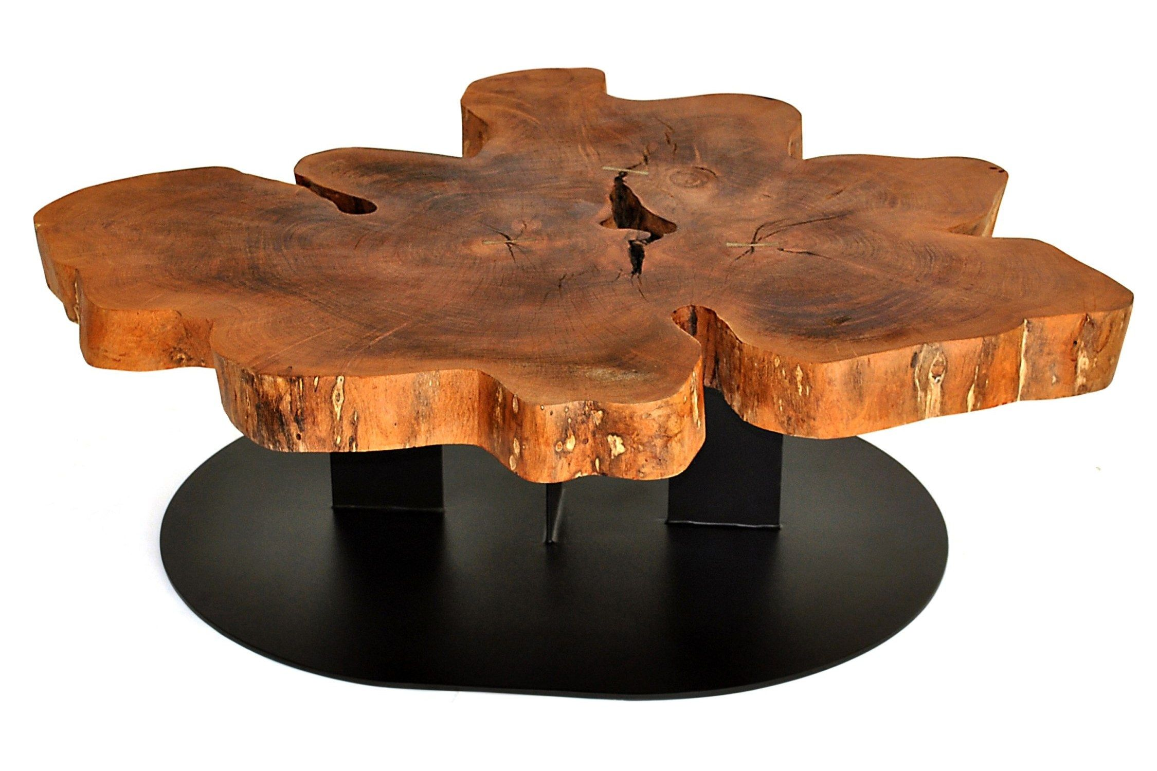 free form wood coffee table  Contemporary coffee table / wooden / in reclaimed material ...