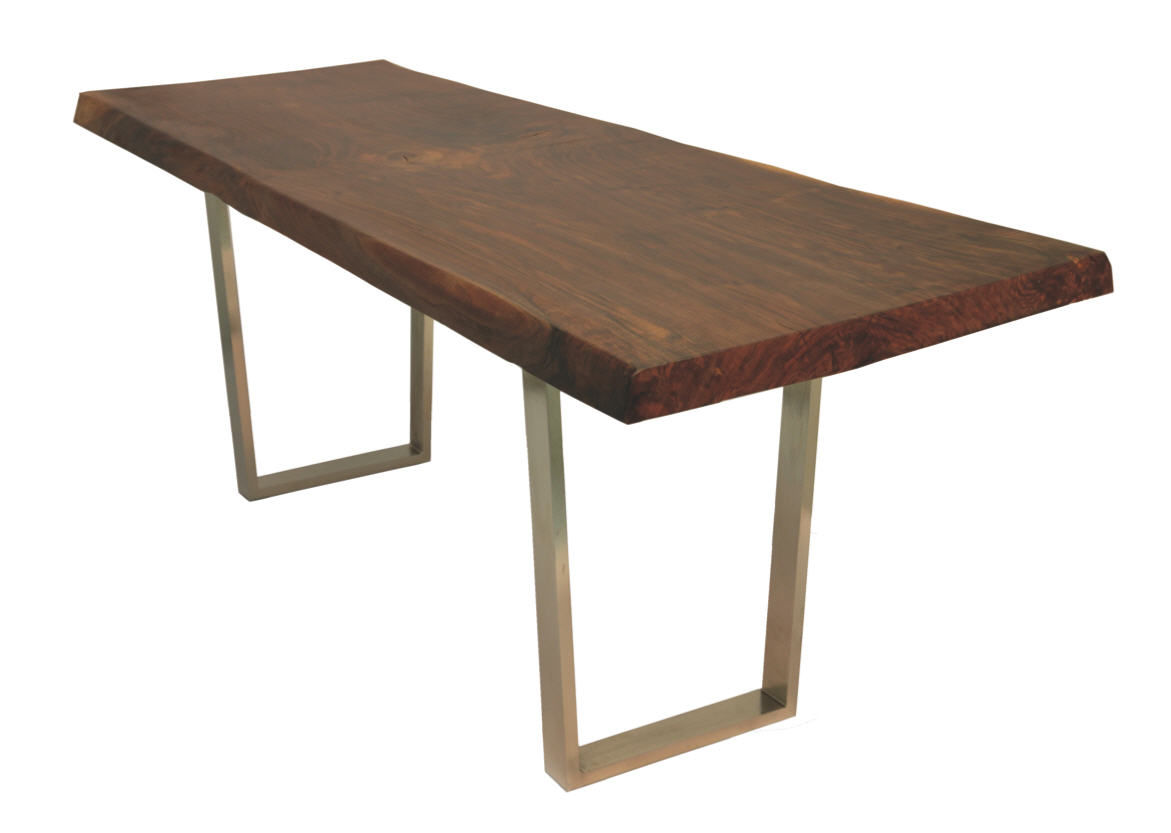 Contemporary Table Wooden Rectangular In Reclaimed Material