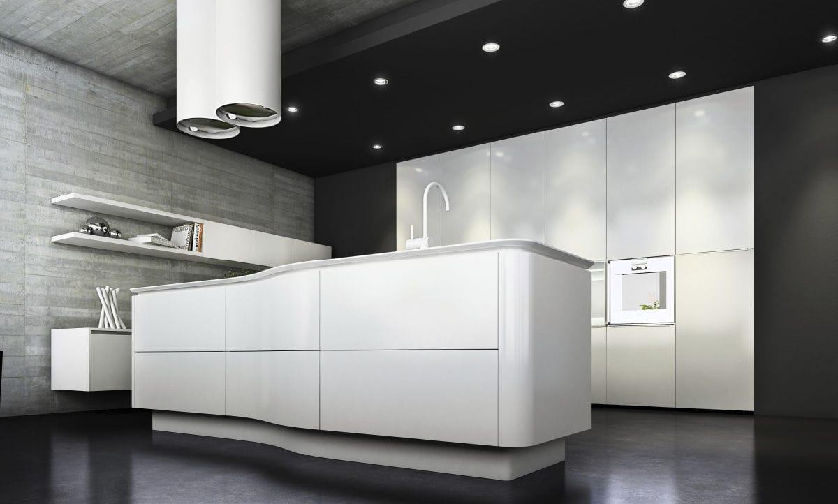 Contemporary Kitchen Laminate Matte Lacquered Luxury