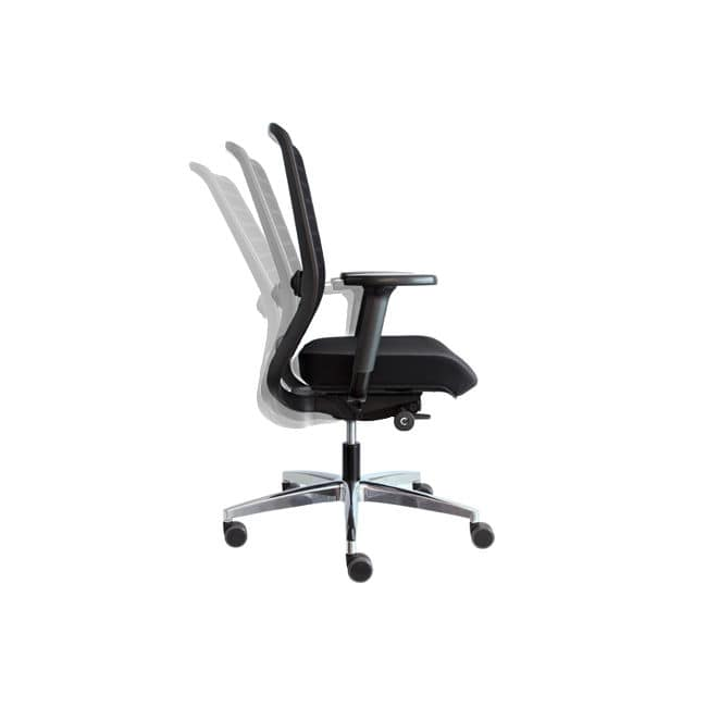 Remarkable Contemporary Office Chair With Armrests Upholstered On Pabps2019 Chair Design Images Pabps2019Com