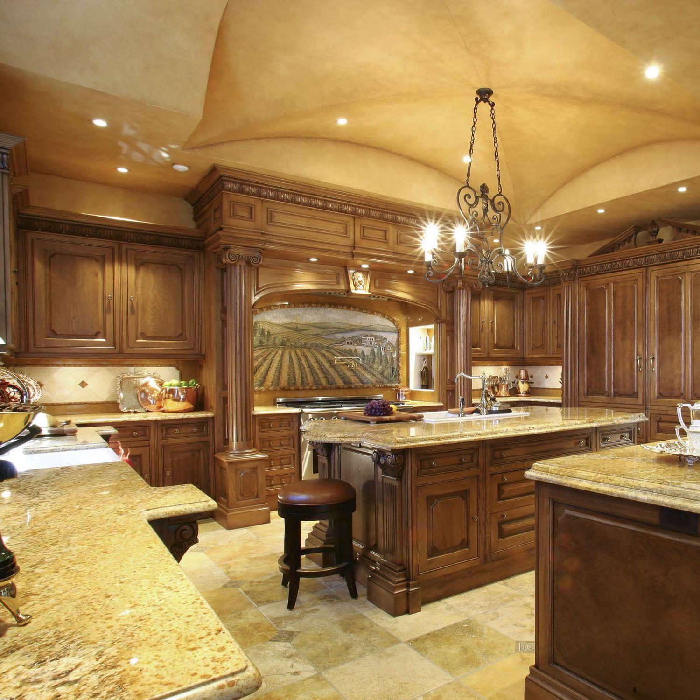 Traditional kitchen / clay / oak / U-shaped - ADAIR - Clive ...