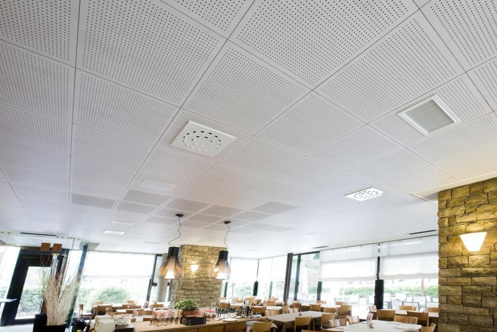 Laminated Mdf Suspended Ceiling Odacustic Oddicini Industrie Tile Acoustic Perforated