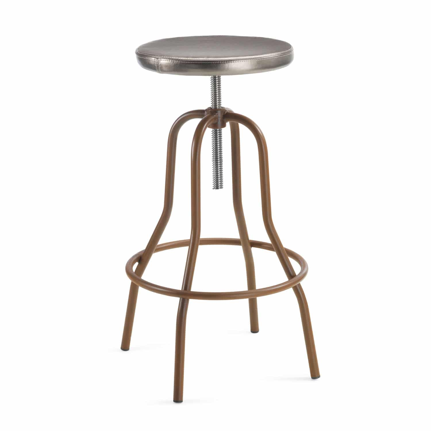 Awe Inspiring Contemporary Bar Stool Leather Painted Steel Natural Andrewgaddart Wooden Chair Designs For Living Room Andrewgaddartcom