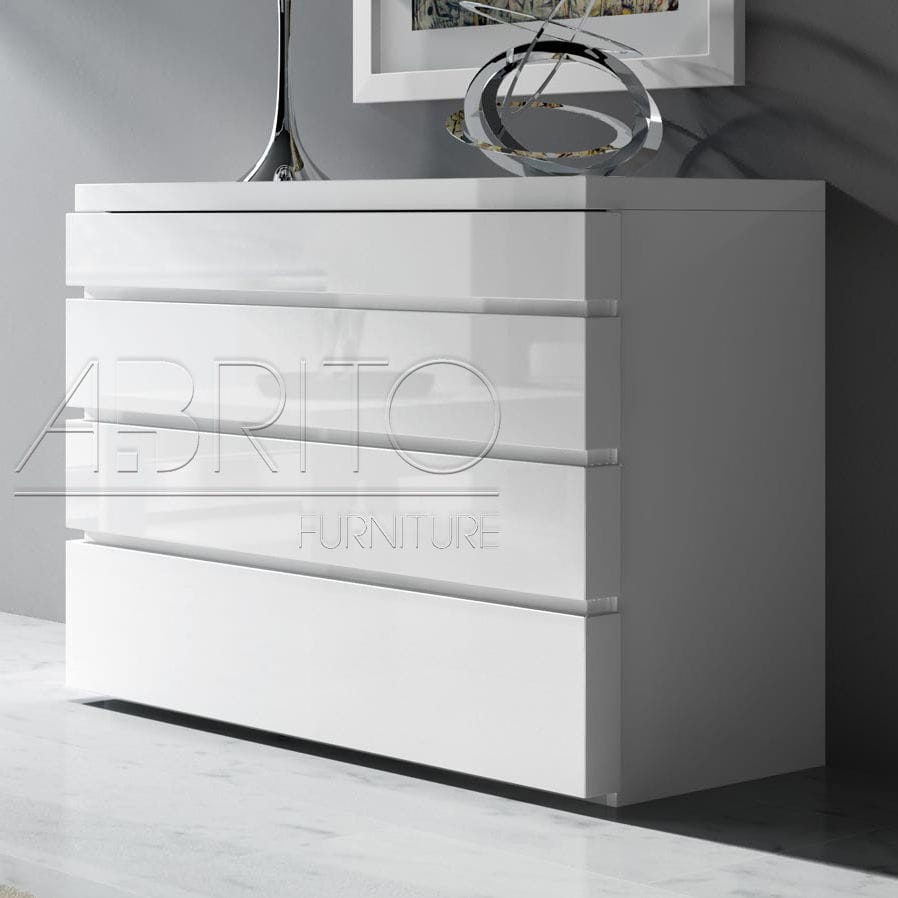 Contemporary Chest Of Drawers Lacquered Wood White Aris Plus 18d