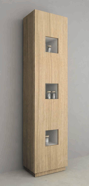 Mobile Colonna Per Bagno.Bathroom Column Cabinet Contemporary Mod Cube Colonna