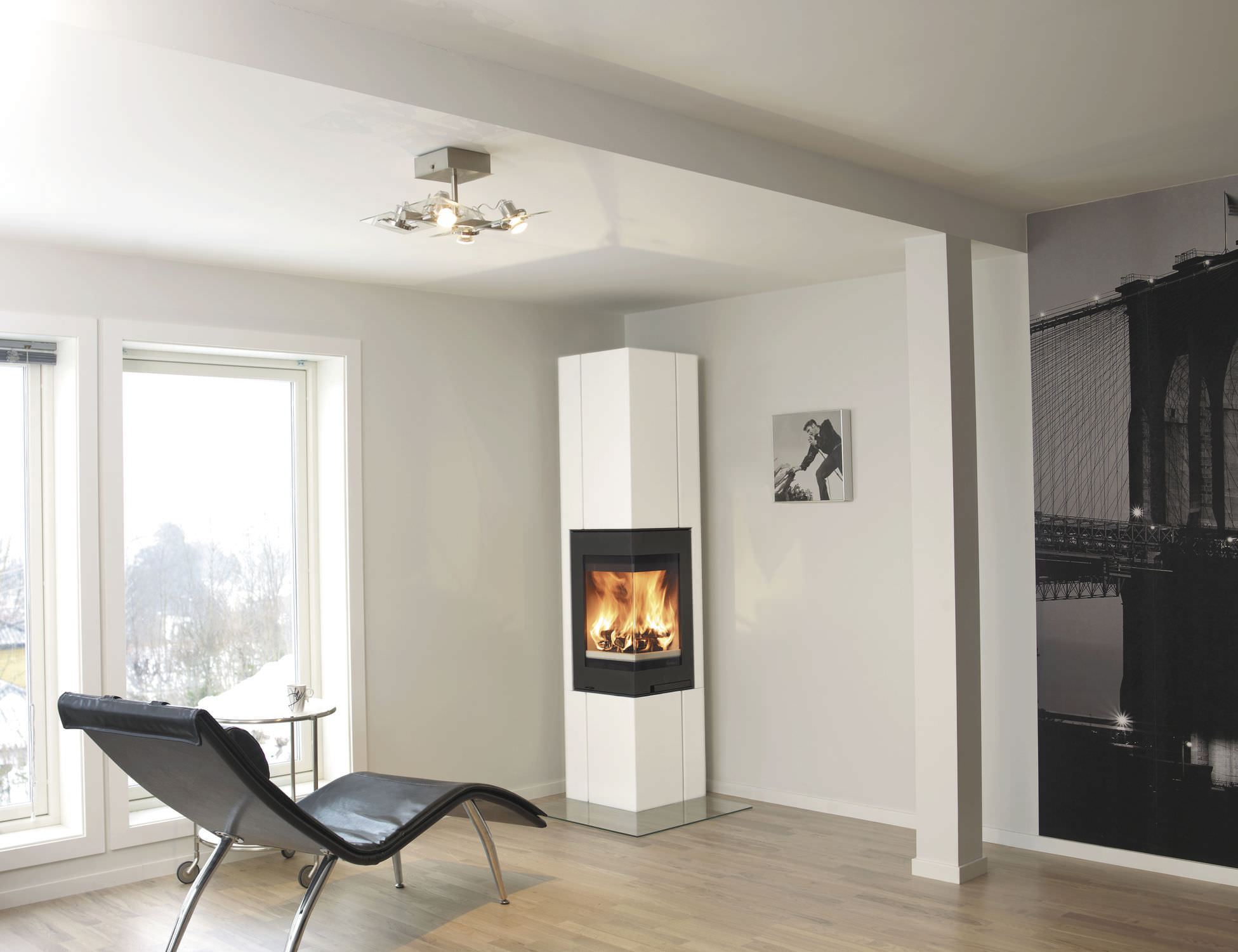 Wood Burning Fireplace Havanna Nordpeis Contemporary