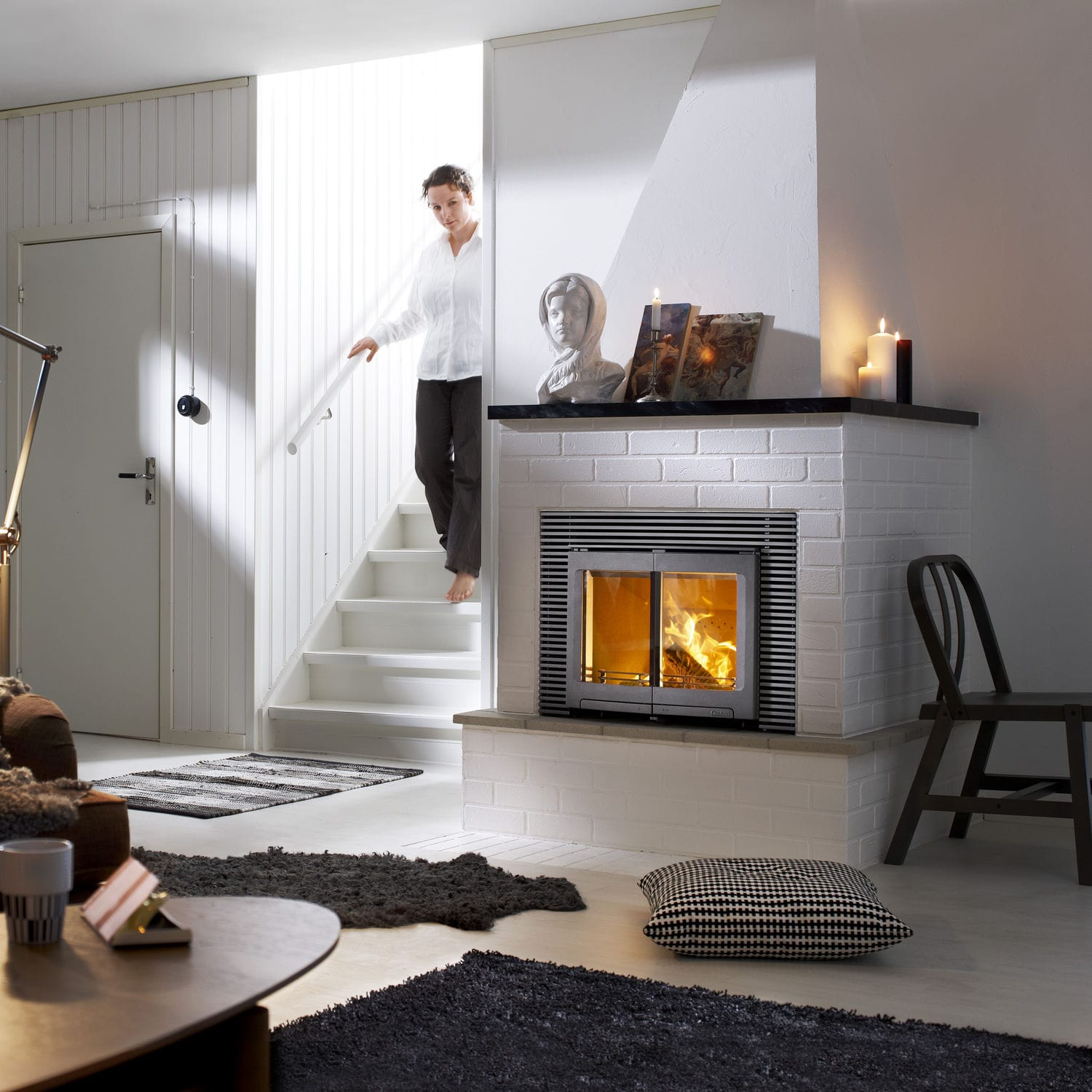 Wood Burning Fireplace Insert Corner I5 Contura Videos