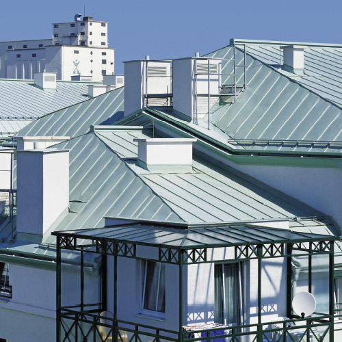 Sheet metal roofing / aluminum / pre-lacquered - - Arconic