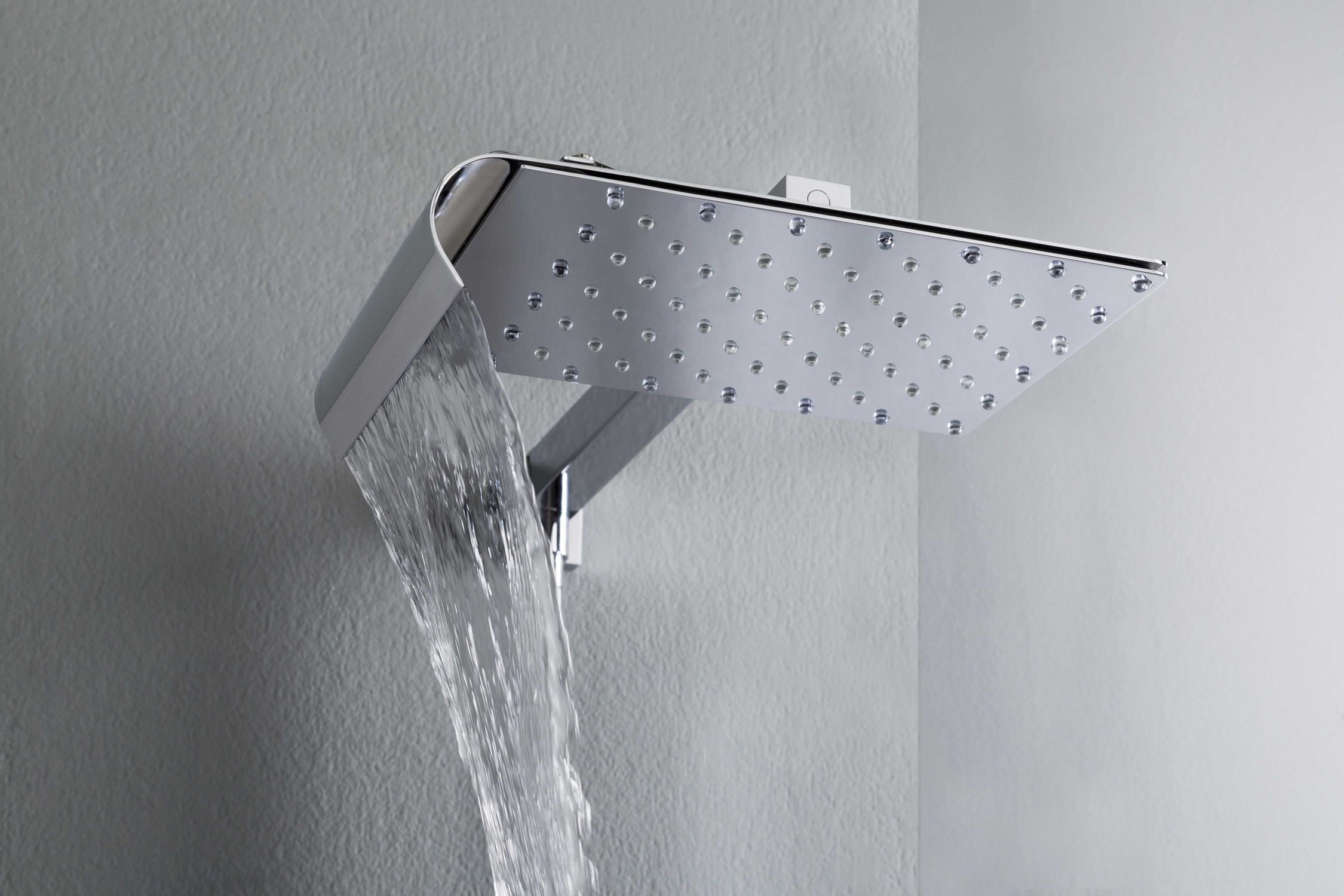 Wall Mounted Shower Head Rectangular Rain Waterfall