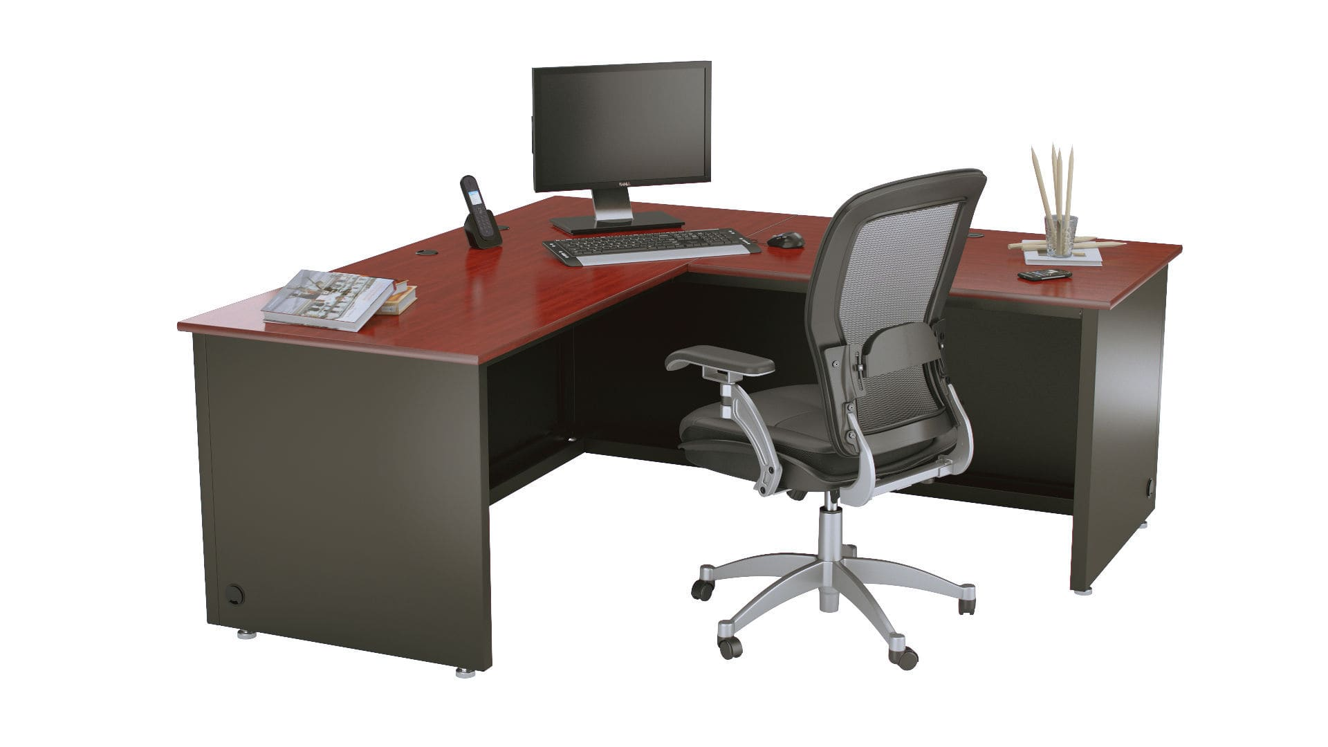 Executive Desk L Shaped Versa Products Wooden Laminate Contemporary