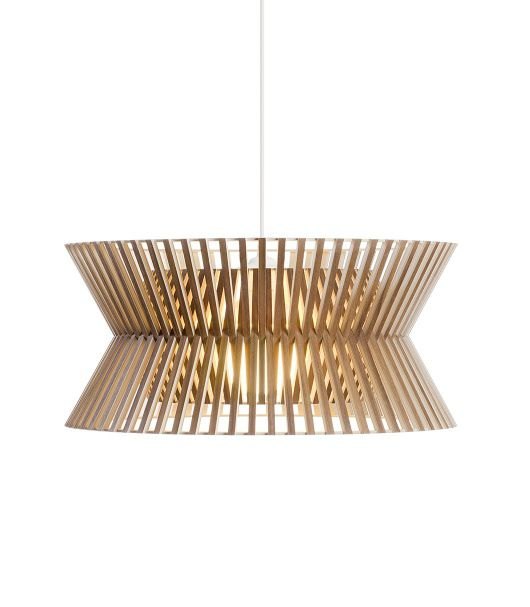 Pendant Lamp Contemporary Wooden Handmade