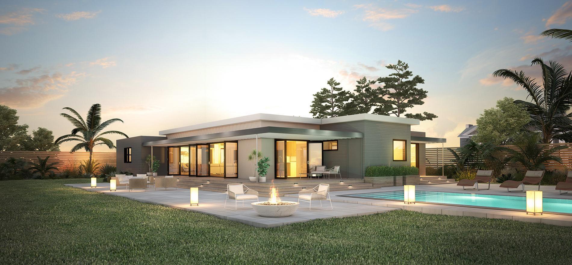 Prefab House Origin 1900 Blu Homes Contemporary Energy Efficient