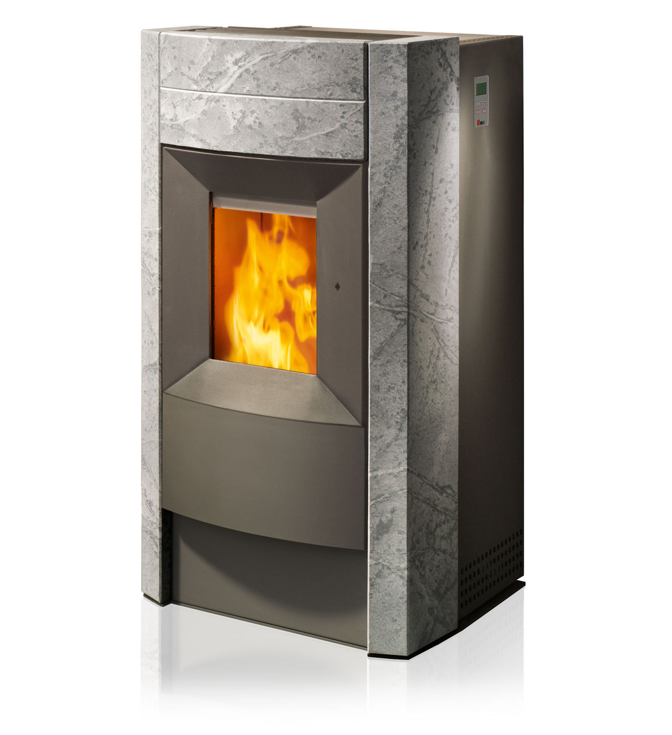 Poele A Granule Rika Domo pellet heating stove / steel / natural stone / contemporary