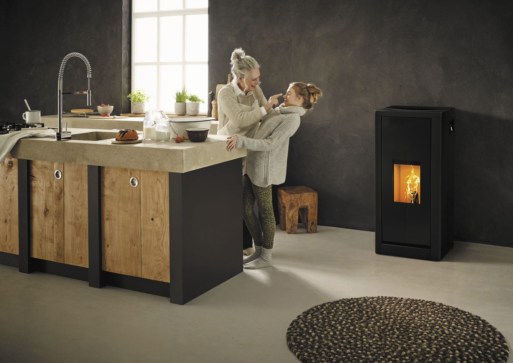 Poele A Pellet Rika Filo pellet heating stove / metal / contemporary / 0 - 5 kw
