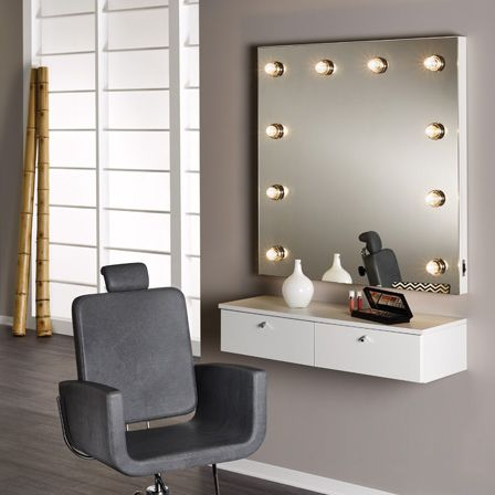Contemporary Dressing Table Gl Chromed Metal Wall Mounted Celebrity