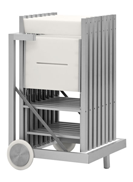 Porta Sedie Pieghevoli Ikea.Chair Trolley Commercial Stainless Steel Viva Everest S R L