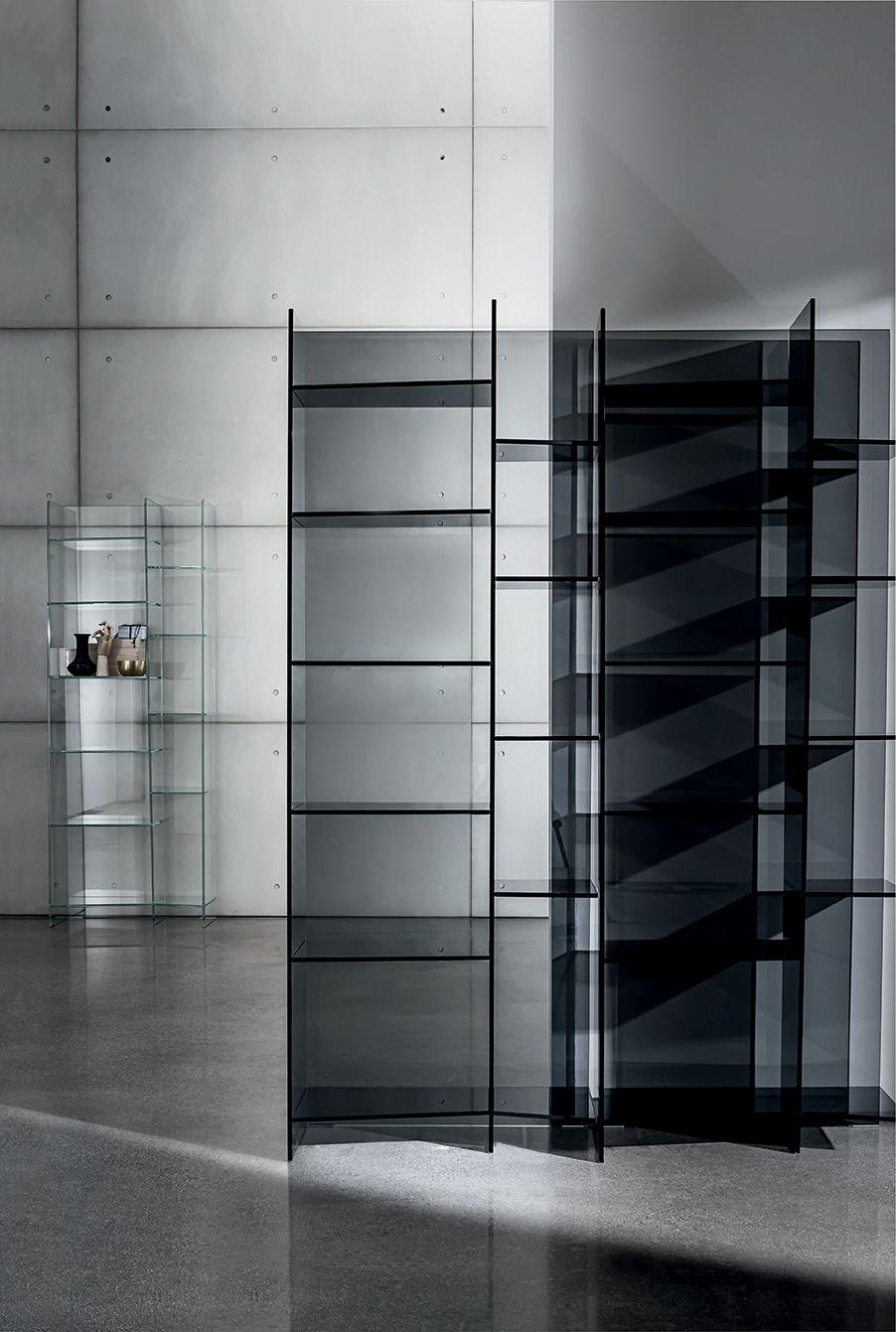 Modular Bookcase Delphi Sovet Contemporary Glass