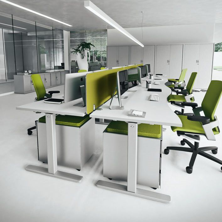 Workstation desk / wooden / contemporary / commercial ...