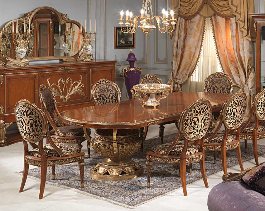 Louis Xvi Style Table Wooden Oval Versailles