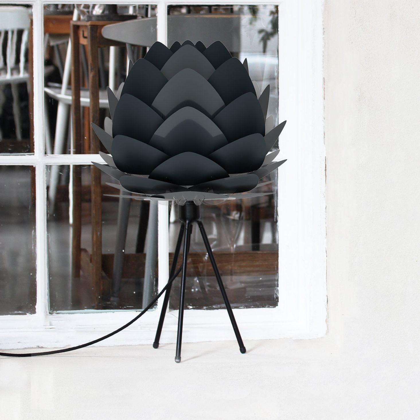 Vita Copenhagen Eos Tripod Table Lamp Light Grey Feather Eos Micro//Black Tripod
