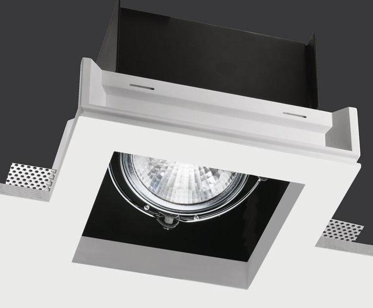 Recessed Ceiling Spotlight Indoor Led Halogen Black Box