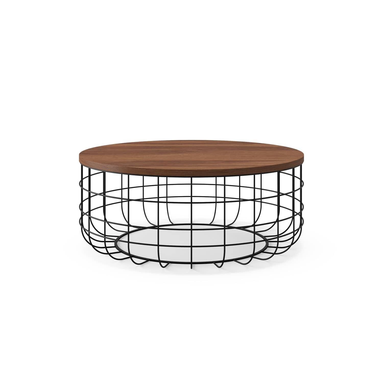 Contemporary Coffee Table Wire Dare Studio American Walnut Natural Oak Wire
