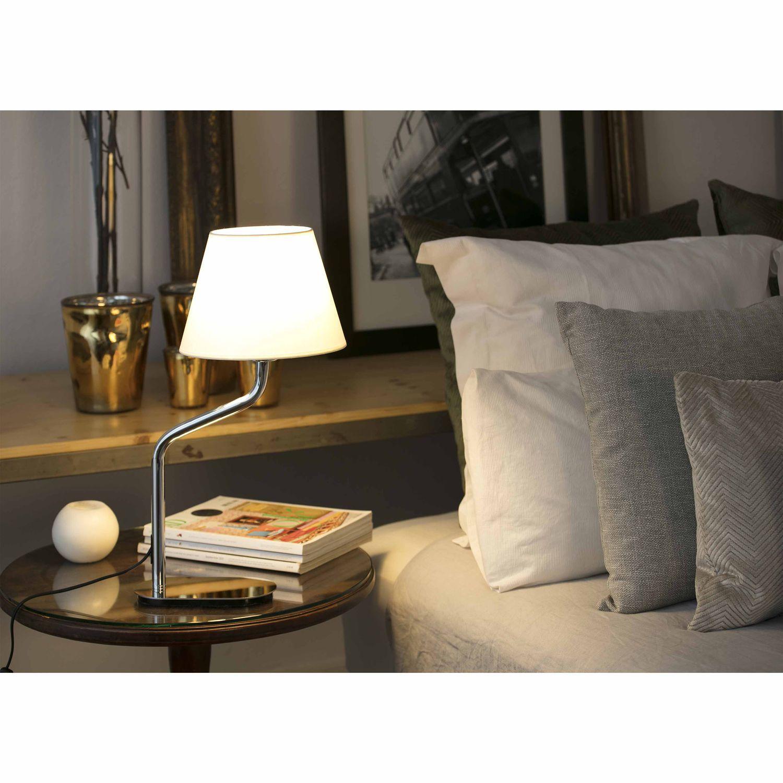 Bedside Table Lamp Minimalist Design Metal Led