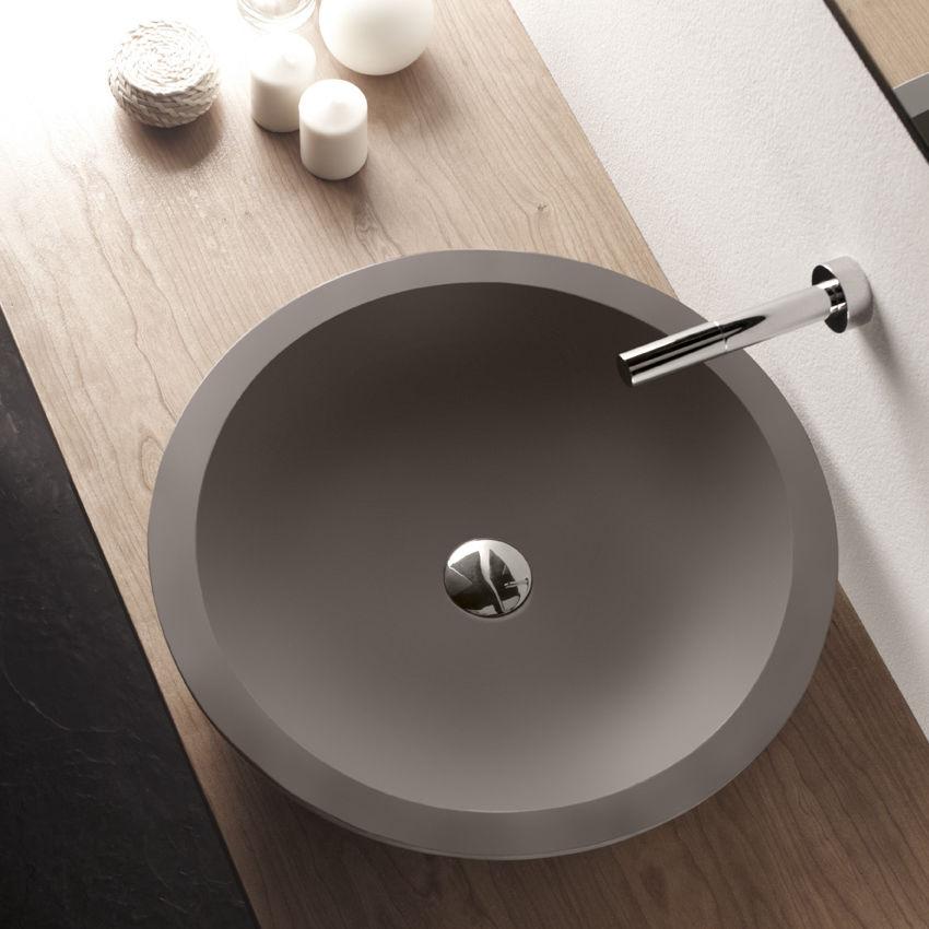 Countertop Washbasin Round Concrete