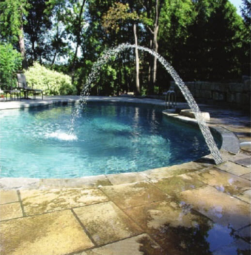 Pool fountain - WMT SERIES - FYREFLY™ JET - Crystal Fountains