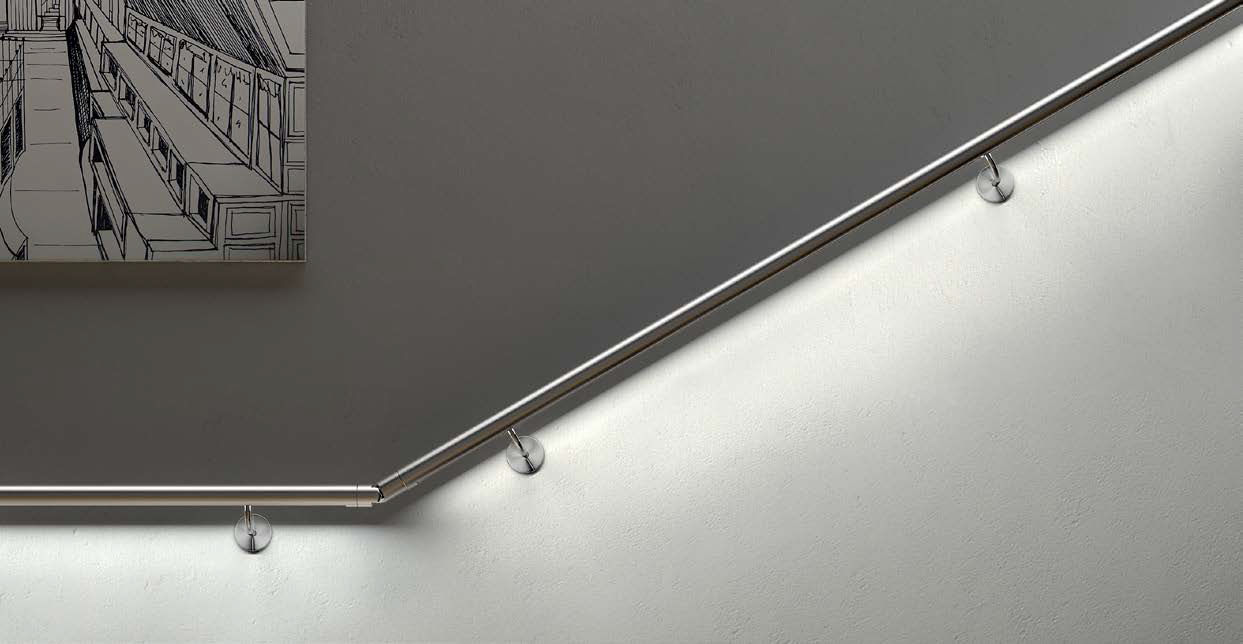 Metal Handrail With Integrated Led Lighting Railing
