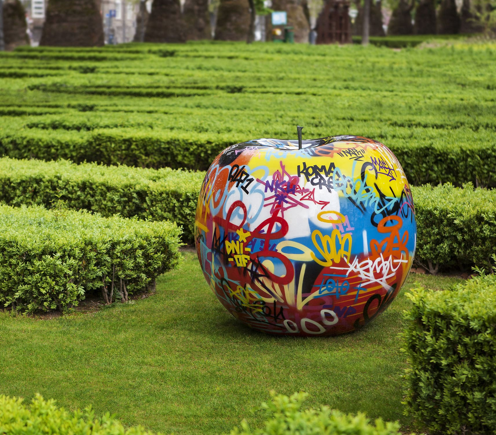 Outdoor Sculpture Ceramic Resin Commercial Graffiti By Bruno