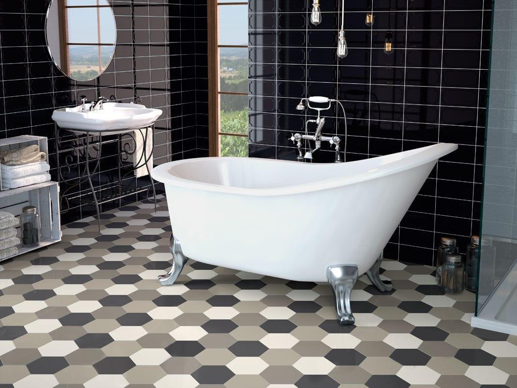 Bathroom Hexagonal Tile Kitchen Floor Hexagon Ape