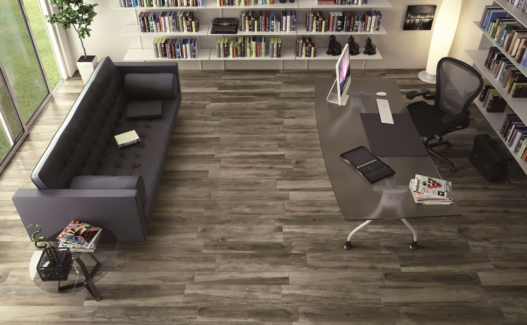 Indoor Tile Floor Porcelain Stoneware Polished